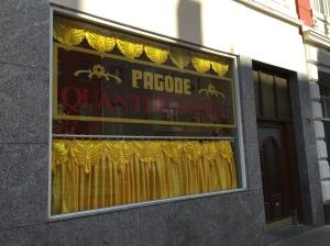 """""""Pagode"""" in der Ottostraße."""