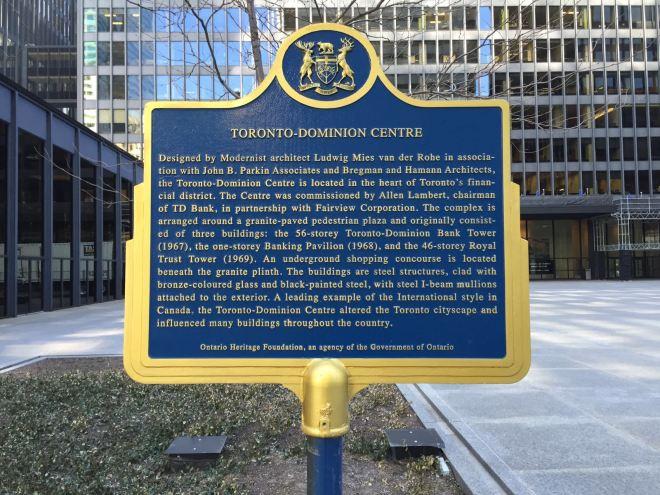 In Toronto prominent vertreten: Ludwig Mies van der Rohe, der in Aachen geboren ist.